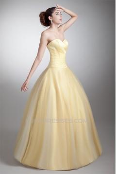 Satin Net Floor-Length Sweetheart Sleeveless Prom/Formal Evening Dresses 02020822