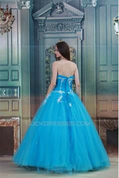 Ball Gown Satin Netting Floor-Length Pleats Prom/Formal Evening Dresses 02020824