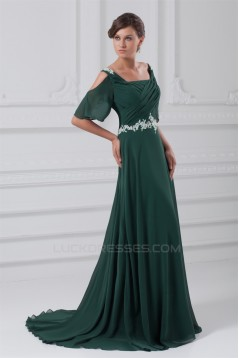 Sequins Half Elbow Length A-Line Chiffon Elastic Woven Satin Prom/Formal Evening Dresses 02020829