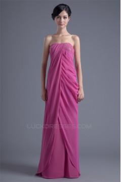 Sheath/Column Beading Chiffon Silk like Satin Prom/Formal Evening Dresses 02020831