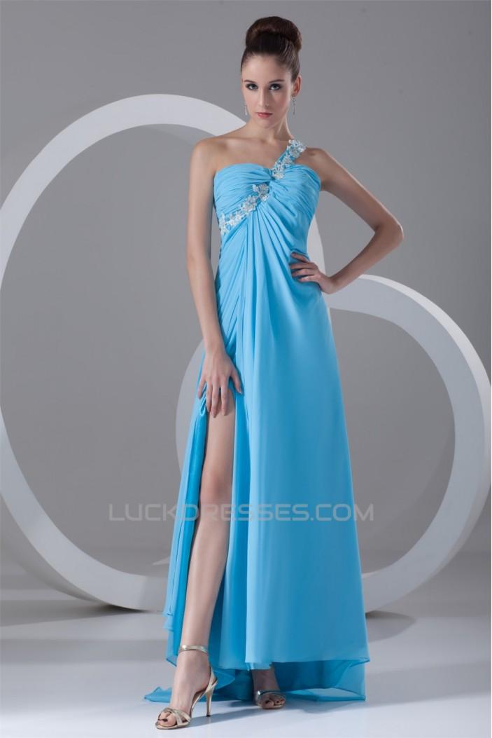 Sheath/Column Beading One-Shoulder Asymmetrical Prom/Formal Evening Dresses 02020833