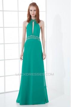 Sheath/Column Halter Sleeveless Beading Prom/Formal Evening Dresses 02020839