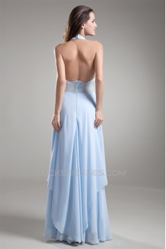 Sheath/Column Halter Sleeveless Chiffon Prom/Formal Evening Dresses 02020840
