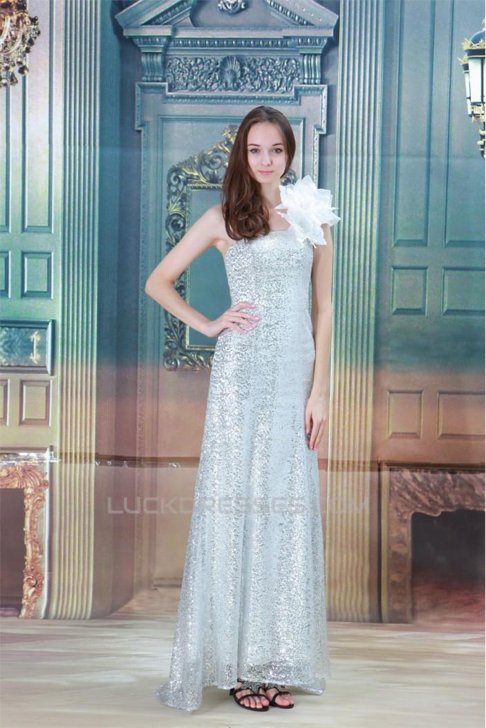 Sheath/Column Handmade Flowers Floor-Length Prom/Formal Evening Dresses 02020841