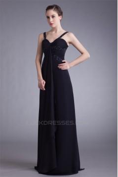 Sheath/Column Straps Pleats Floor-Length Prom/Formal Evening Dresses 02020846