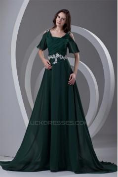 Short A-Line Cowl Ruffles Chiffon Elastic Woven Satin Prom/Formal Evening Dresses 02020848