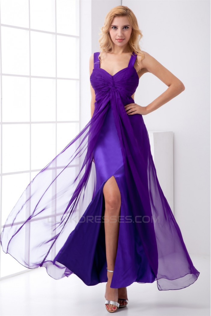 A-Line Chiffon Elastic Woven Satin  Prom/Formal Evening Dresses 02020849