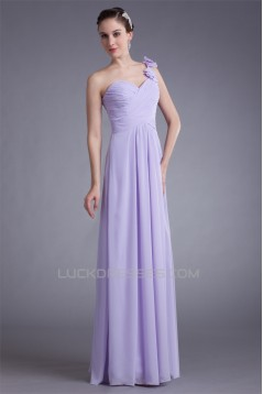 A-Line Draped Floor-Length One-Shoulder Prom/Formal Evening Bridesmaid Dresses 02020851
