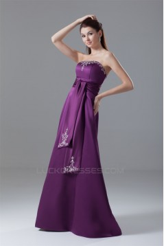 A-Line Floor-Length Beading Satin Prom/Formal Evening Dresses 02020853