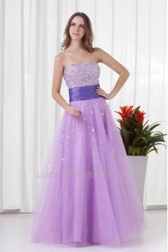 A-Line Taffeta Netting Floor-Length Prom/Formal Evening Dresses 02020860