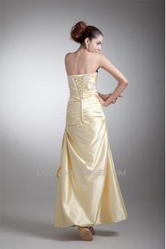 Sleeveless Ankle-Length Elastic Woven Satin Prom/Formal Evening Dresses 02020861