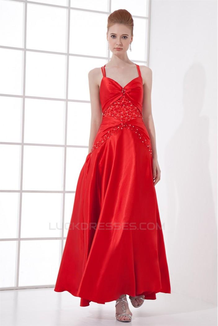Sleeveless Ankle-Length Spaghetti Straps Prom/Formal Evening Dresses 02020863