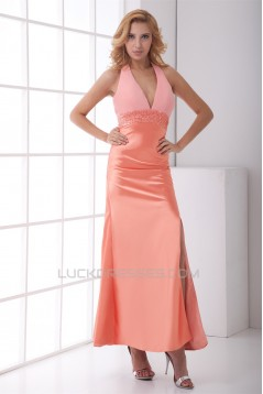 Mermaid/Trumpet Sleeveless Beading Satin Chiffon Prom/Formal Evening Dresses 02020867