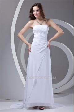 Sleeveless Brush Sweep Train Beading Chiffon Prom/Formal Evening Dresses 02020871