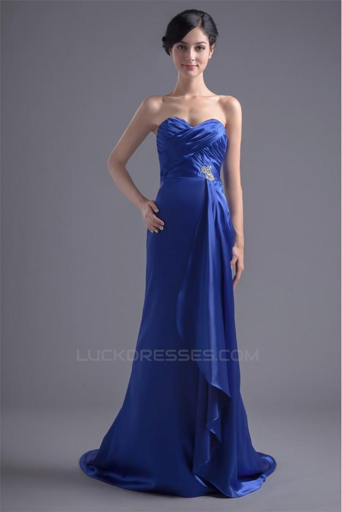 Sleeveless Elastic Woven Satin Beading Prom/Formal Evening Bridesmaid Dresses 02020878