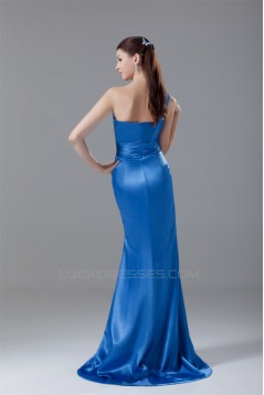 One-Shoulder Sleeveless Elastic Woven Satin Prom/Formal Evening Bridesmaid Dresses 02020879