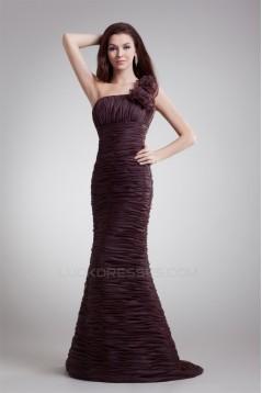 Sleeveless Handmade Flowers Brush Sweep Train Prom/Formal Evening Dresses 02020883