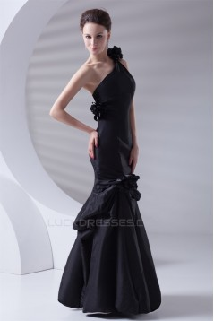 Mermaid/Trumpet Taffeta Floor-Length Prom/Formal Evening Dresses 02020885