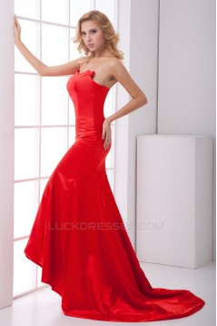 Mermaid/Trumpet Sweetheart Long Red Prom/Formal Evening Dresses 02020886