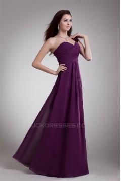 A-Line Draped Floor-Length One-Shoulder Prom/Formal Evening Bridesmaid Dresses 02020889