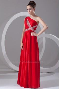 Sheath/Column Floor-Length Long Red Chiffon Prom/Formal Evening Dresses 02020893