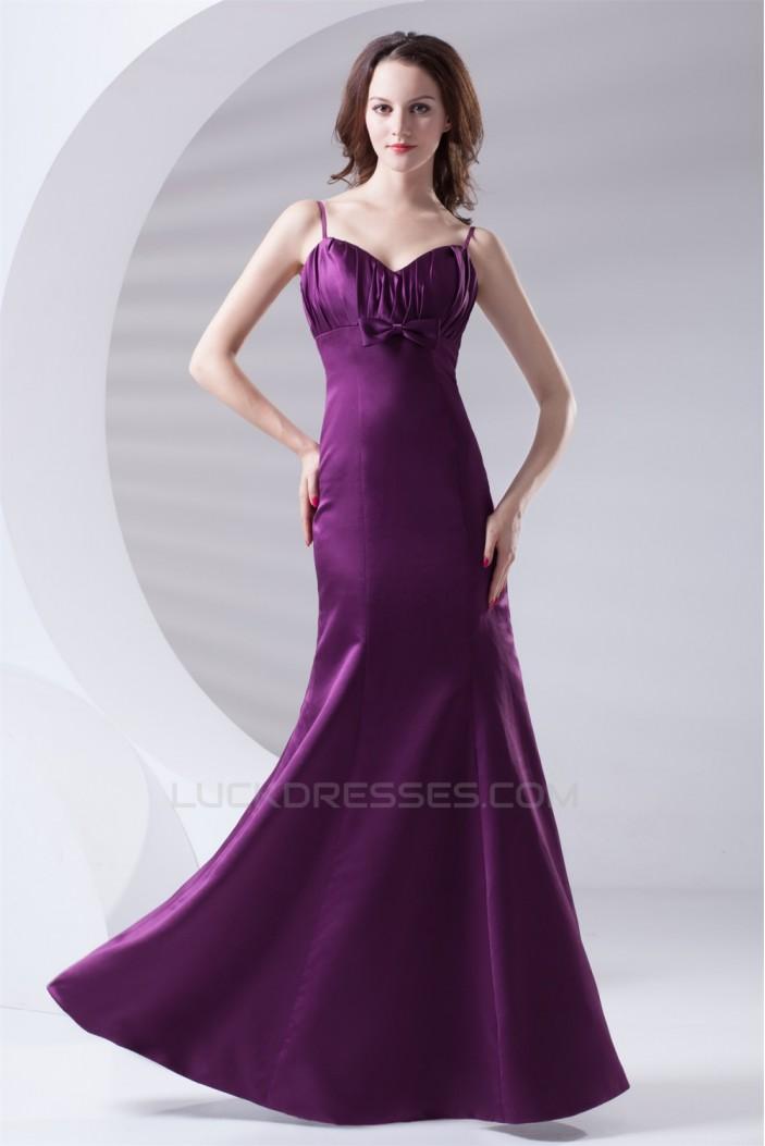 Trumpet/Mermaid Satin Floor-Length Beading V-Neck Prom/Formal Evening Bridesmaid Dresses 02020895