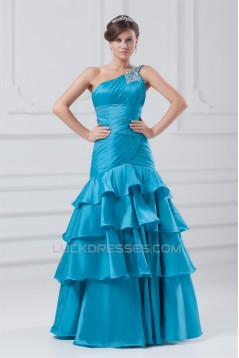 Sleeveless Sequins Taffeta One-Shoulder Prom/Formal Evening Dresses 02020897