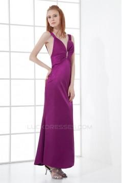 Sleeveless Sheath/Column Ankle-Length V-Neck Prom/Formal Evening Dresses 02020898