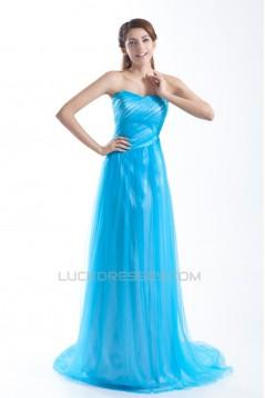 Sleeveless Sheath/Column Pleats Fine Netting Prom/Formal Evening Dresses 02020899