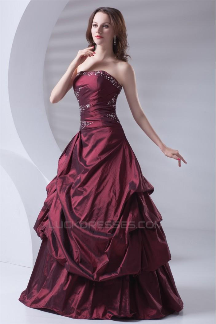 Sleeveless Strapless Floor-Length Ball Gown Prom/Formal Evening Dresses 02020902