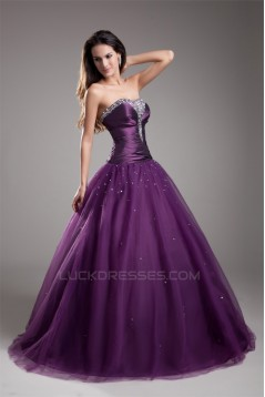 Sleeveless Sweetheart Taffeta Fine Netting Prom/Formal Evening Dresses 02020905