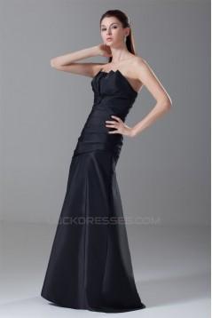 Sleeveless Taffeta Pleats Strapless A-Line Prom/Formal Evening Dresses 02020908