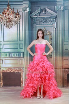 Soft Sweetheart Sleeveless A-Line Silk like Satin Icy Yarn Prom/Formal Evening Dresses 02020911