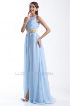 Split Front Chiffon Silk like Satin Sheath/Column Prom/Formal Evening Dresses 02020913