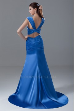 Square Mermaid/Trumpet Elastic Woven Satin Prom/Formal Evening Dresses 02020915