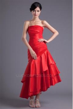 Strapless Asymmetrical Sleeveless Prom/Formal Evening Dresses 02020919
