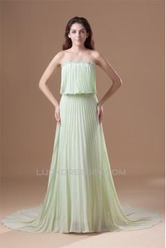 A-Line Strapless Chiffon Prom/Formal Evening Dresses 02020921