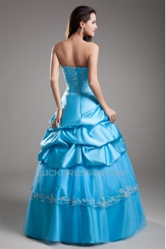 Strapless Floor-Length Beading A-Line Sleeveless Prom/Formal Evening Dresses 02020924