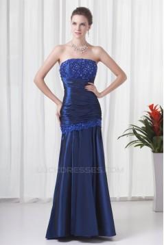 Strapless Floor-Length Taffeta Lace Sheath/Column Prom/Formal Evening Dresses 02020925