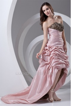 Strapless Sleeveless A-Line Handmade Flowers Prom/Formal Evening Dresses 02020929