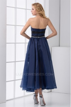 Sweetheart Ankle-Length Chiffon Elastic Woven Satin Prom/Formal Evening Dresses 02020935