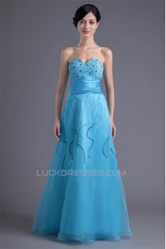 Sweetheart Beading Floor-Length A-Line Sleeveless Prom/Formal Evening Dresses 02020937