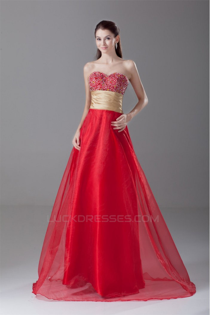 A-Line Sweetheart Beading Prom/Formal Evening Dresses 02020938