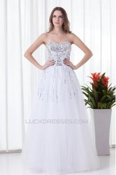 Sweetheart Elastic Woven Satin Net Floor-Length Prom/Formal Evening Dresses 02020942