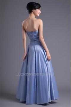 A-Line Taffeta Beading Sleeveless Floor-Length Prom/Formal Evening Dresses 02020950