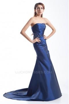 Sheath/Column Taffeta Beading Sleeveless Prom/Formal Evening Dresses 02020951