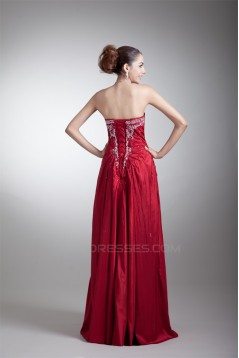 Taffeta Sleeveless Beading Floor-Length Prom/Formal Evening Dresses 02020957