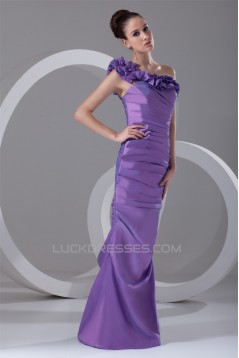 Taffeta Sleeveless Floor-Length One-Shoulder Prom/Formal Evening Dresses 02020958