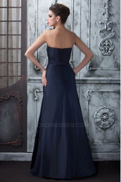A-Line Strapless Long Prom Evening Party Dresses 02020981