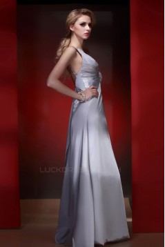 A-Line Beaded Long Prom Evening Party Dresses 02020986